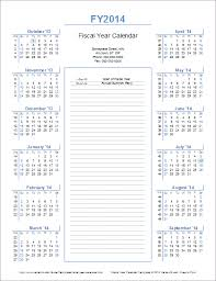 Year To Year Calendar Fiscal Year Calendar Template For 2014 And Beyond
