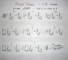 wagon wheel sheet music wagon wheel tab details and ratings banjo hangout