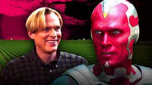Elizabeth olsen's wanda & paul bettany's vision are all smiles in new promo wandavision: Marvel S Wandavision Leaked Set Photo Shows Paul Bettany S Vision On A Farm