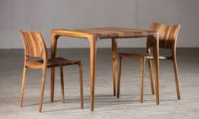 unique dining furniture. Unique Solid Wood Dining Table With Chairs Design Above The Cement Floor For Large Room As Best Furniture