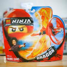 Đồ chơi lắp ráp lego ninjago con quay rồng đỏ và ninja kai Bela 10932  masters dragon