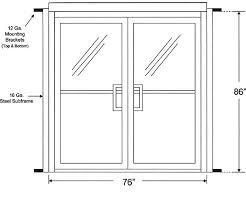 Commercial Garage Door Size Chart Entry Door Size Chart Empoweringlifestrategies Co