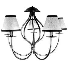 wrought iron 5 arm chandelier with amber chandelier shades