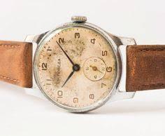 handmade vintage watch wrist watch leather watch man women antique men s watch pobeda soviet retro wrist watch by sovietera 68 00