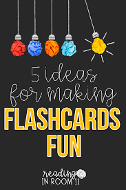 Flash Card Design Ideas 5 Ideas For Making Flashcards Fun Reading In Room 11