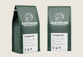 Coffeebags south africa manufactures digital printed stand up pouches, side gusset bags, flat bottom pouches, paper bags, coffee pouches with valves, spout pouches for liquid packaging etc. Earthrise Coffee Roasters Packaging Design And Brand Identity Mark Lundberg Multidisciplinary Brand Designer