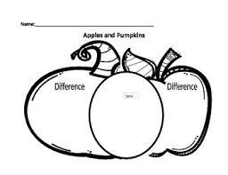 Pumpkin Venn Diagram Apples And Pumpkins Venn Diagram