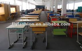 new design wooden single school furniture student desk and chair