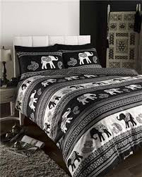 black indian paisley print ethnic bedding king size