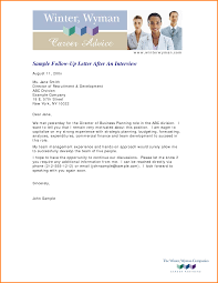 Follow Up Letter After Interview No Response Sufficient Vision Ideas