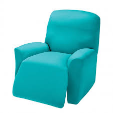 recliner covers sure fit recliner covers wing chair recliner slipcover blue colors