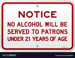 Free 21 Royalty Vector Years Alcohol Notice Image