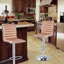 hydraulic bar stools. Joveco Modern Hydraulic Lift Adjustable Leather Bar Stools, Set Of 2 (Rose Gold) Stools T