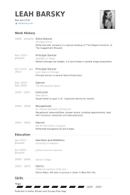 ... Dance Resume Examples 13 Dance Resume Format Make A Sample Customer  Service In ...
