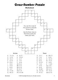 We've all done crossword puzzles. This worksheet is a printable ...
