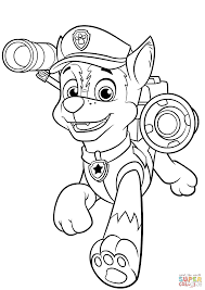 Paw Patrol Coloring Pages Free Spy Chase 7 Noscaorg