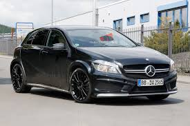 Being human carbon steel mercedes benz black foldable cycle, size: Spyshots Mercedes Benz A45 Amg Black Series Spotted At The Ring Gtspirit