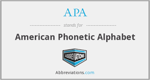 This is true in the police force, where they have established their own police alphabet, in the financial sector, where banks and traders often use the alphabet for large transactions done over the phone, and in commercial airline. Apa American Phonetic Alphabet