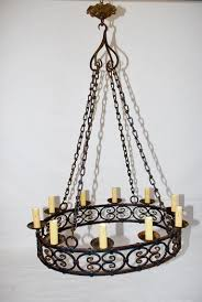 a very nice and impressive 1920 wrought iron chandelier it is all hand made