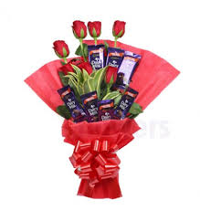 Image result for flower chocolate bouquet handmade for valentines