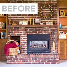 remove brick fireplace before look at a brick fireplace removing raised brick fireplace hearth