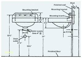 standard bathroom sink drain pipe size