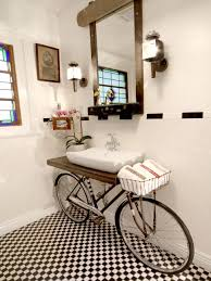 ideas custom bathroom vanity tops inspiring:  ci benjamin bullins bicycle turned bathroom sink vjpgrendhgtvcom