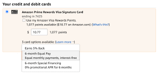 Interest will be charged to your account from the purchase date if the balance is not paid in full within 6 months. A Complete Guide To Amazon Financing Payment Plans Creditcards Com
