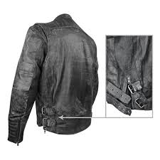 xelement xs20250 menace men s black armored leather motorcycle jacket with pocket leatherup com