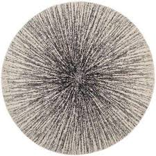evoke black ivory 7 ft x 7 ft round area rug