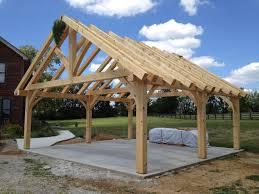 Garage Patio Designs Kingpost Trusses Timberframe Carport Garage Carport