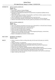 Template Sales Associate Resume Sample Monster Com Retail Template ...