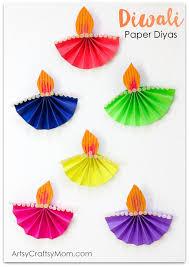 Accordion Fold Diwali Paper Diya Craft Diwali Craft India