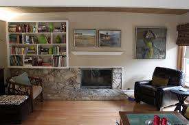 mid century modern fireplace design