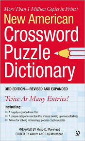new american crossword puzzle dictionary by philip d morehead paperback barnes noble