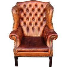 chair design ideas tufted leather wingback chair brown gold elegant upholstered leather chair with black