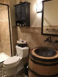 aspen builders bat bathroom whiskey barrel sink