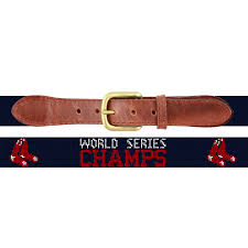 smathers branson boston red sox 2018 world series needlepoint belt dark navy london harness