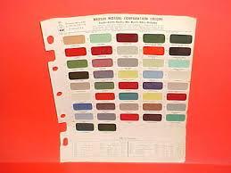Austin Healey Color Chart 1965 1966 1967 Austin Healey 3000 Sprite Mgb Mg Princess
