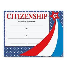 Citizenship Award Casual Certificates Paperdirects