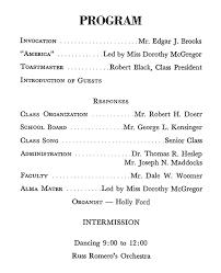 Banquet Program Examples Altoona High School Class Of 1963 Banquet Prom