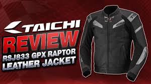 rs taichi rsj833 gpx raptor leather jacket review sportbiketrackgear com