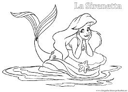 Disegni Da Colorare E Stampare Della Sirenetta Ariel Fredrotgans