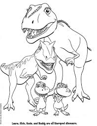 Small Picture Coloring Pages Kleurplaat Printable T Rex And Triceratops