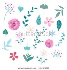 Spring Flower Template Spring Flowers And Leaves Different Types Of Flowers And Leaves