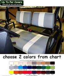tomberlin emerge custom golf cart front seat cover set two stripe staple on