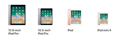 Ipad 4 Comparison Chart 2018 Ipad Comparison Chart Apple Tech Talk