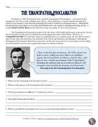 best the emancipation proclamation ideas  emancipation proclamation worksheet