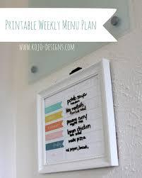 Diy Weekly Menu Planner And A Free Printable