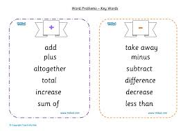 Math Word Problem Key Words Chart Free Maths Poster Numeracy Word Problems Math Worksheets